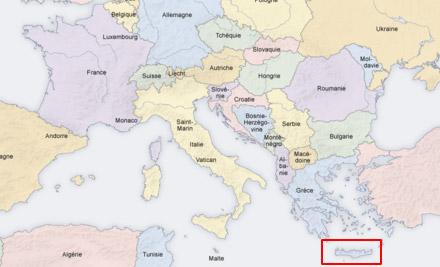 la crete carte europe - Image