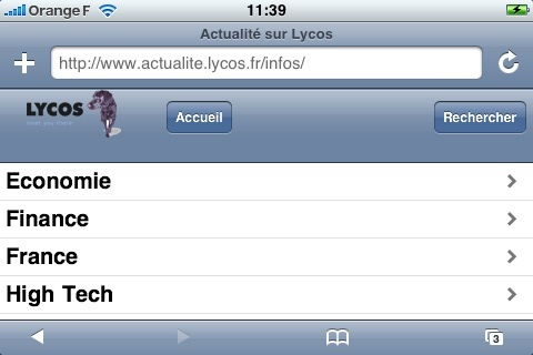 iPhone Lycos