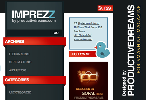 ImpreZZ, theme wordpress gratuit