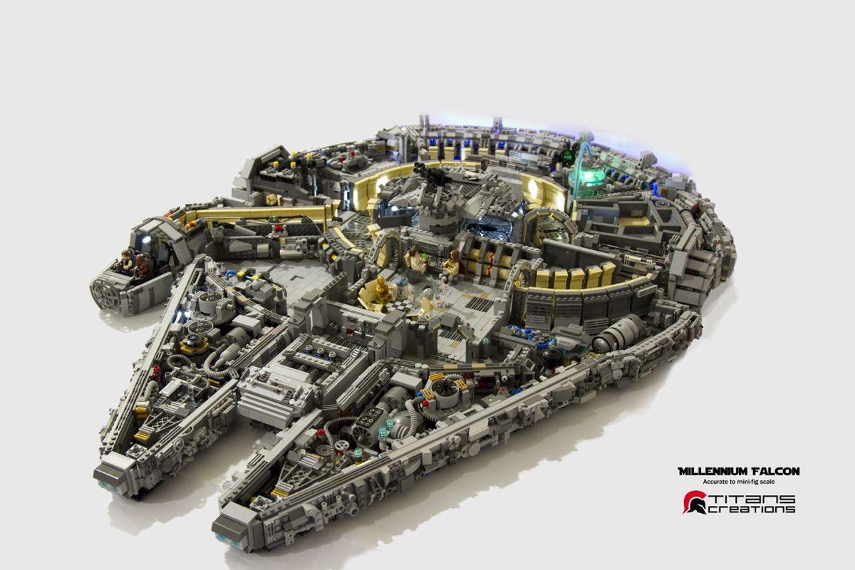 L 39 int rieur du faucon millenium en 10 000 briques de lego for Interieur faucon millenium