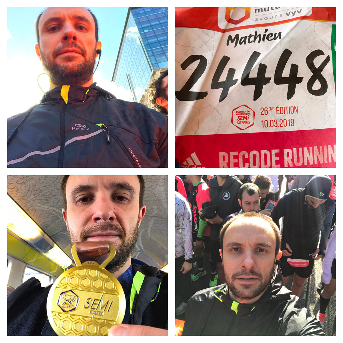 Collage semi-maraton
